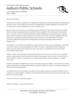 COVID-19 Letter to Parents 3/23/20
