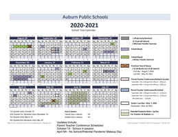 20-21 School Calendar- Updated 8/31/20