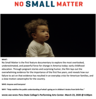No Small Matter: Film Screening (FREE)
