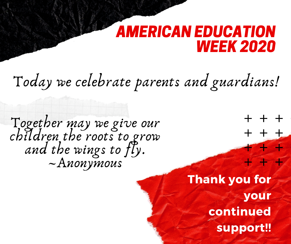 American Education Week Thank You Parent