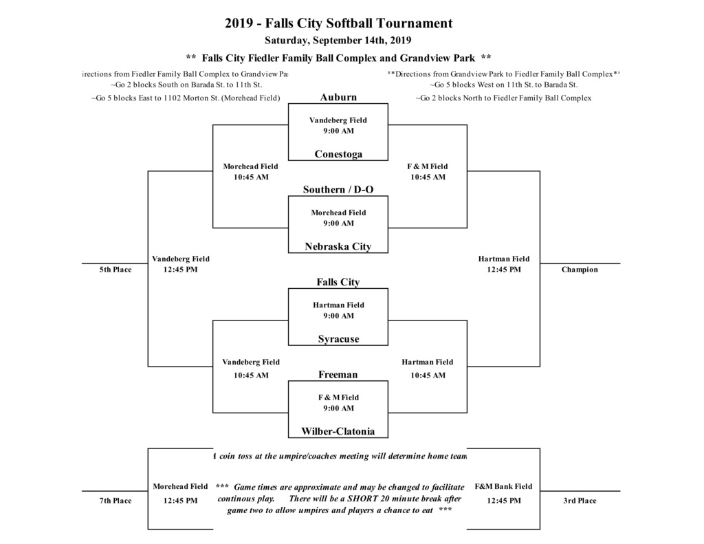 FCHS Tournament Bracket