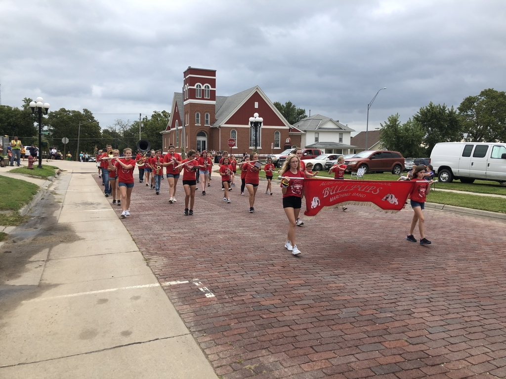 Middle School Band at the Richardson County Fair Parade!