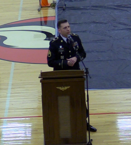 Staff Sargent Thomas speaking