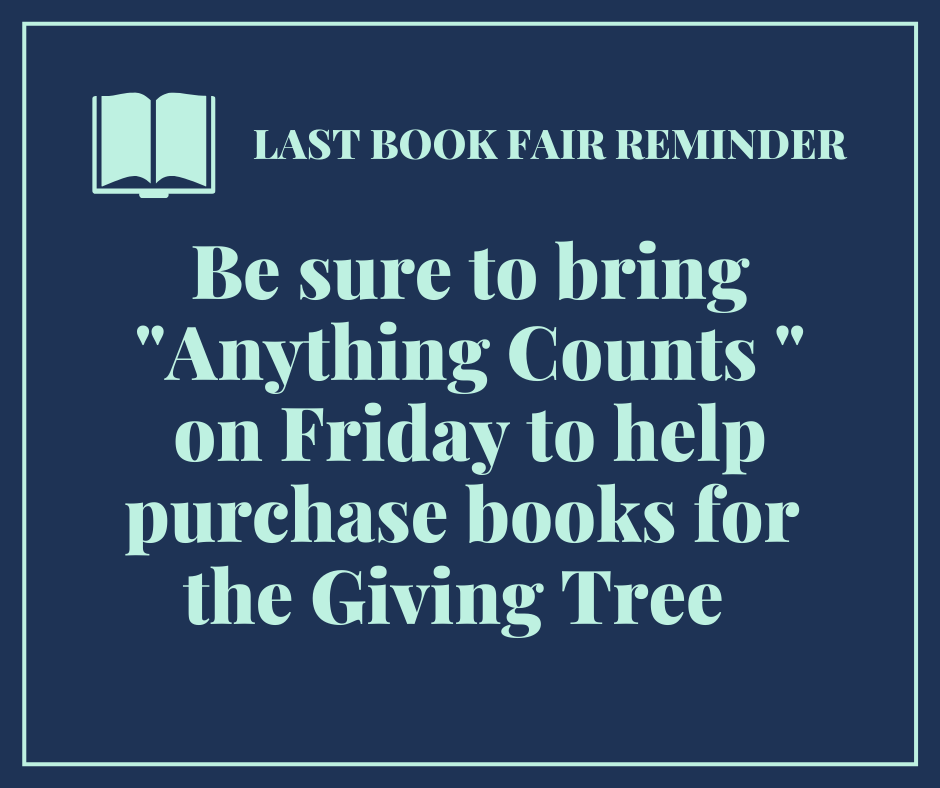 book fair reminder