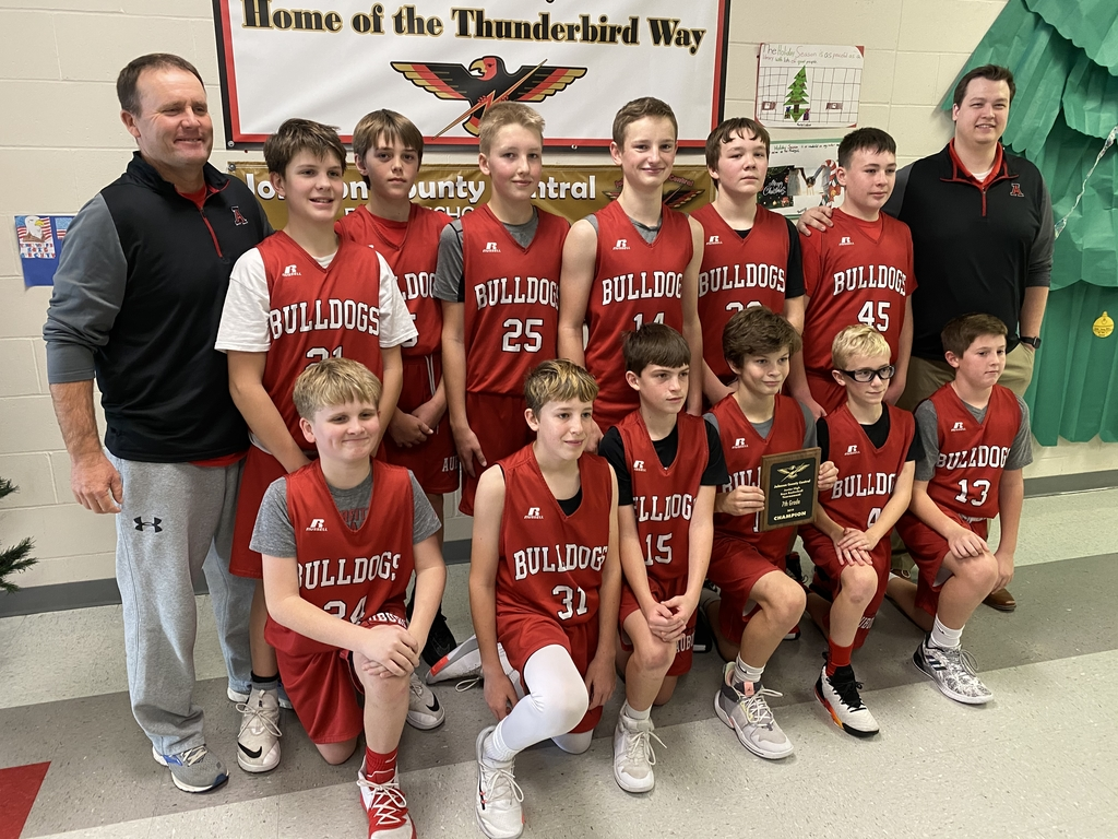 7th Grade Boys Basketball Team Champions!