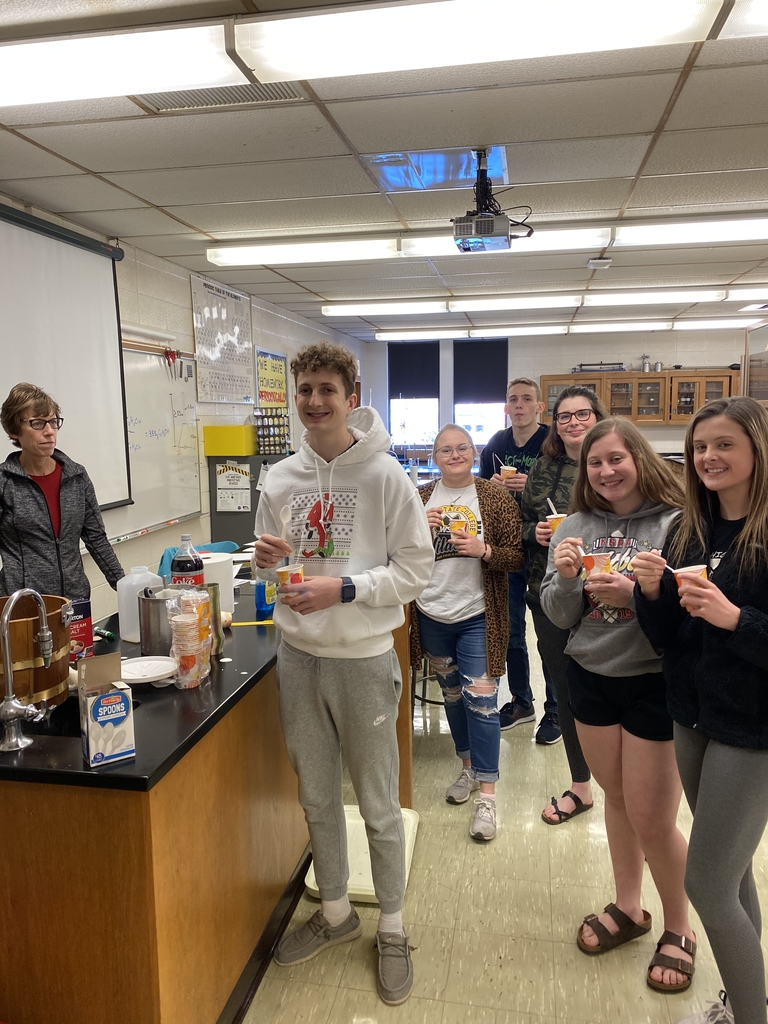 Advanced Chemistry Class makes some ice cream!