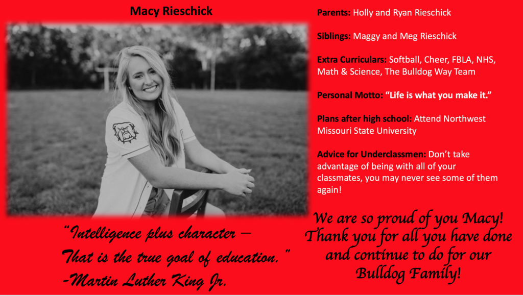 Macy Rieschick-APS Senior 2020