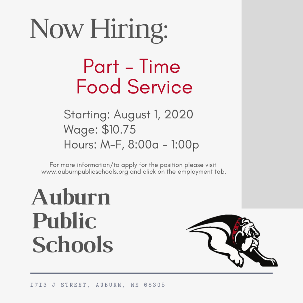 Now Hiring Food Service