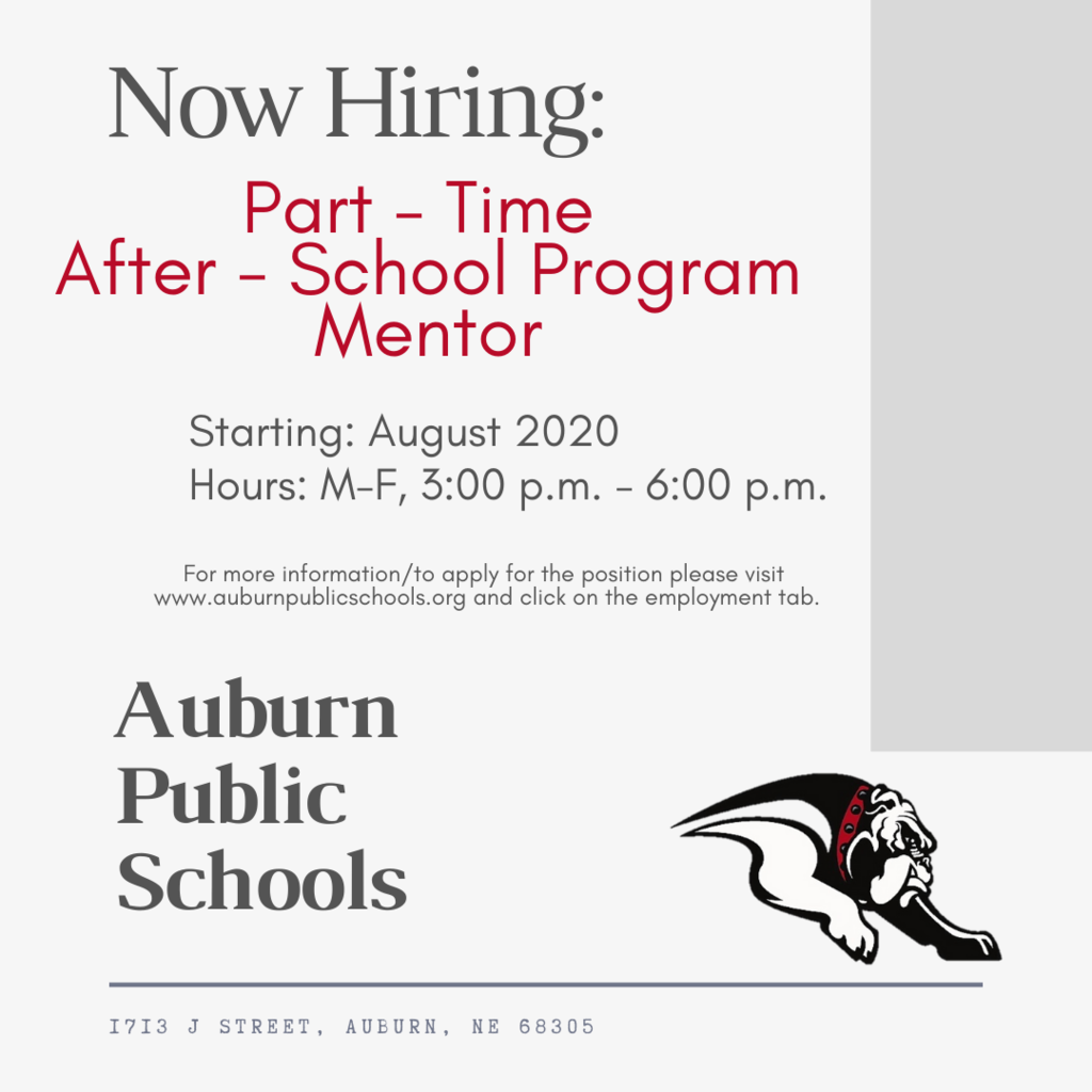 Now Hiring: Part-Time After School
